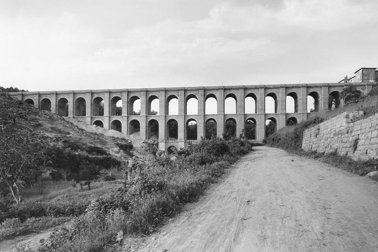 Ricostruzione post bellica, strada statale 7 'Via Appia', ponte di Ariccia ricostruito dopo la Seconda Guerra Mondiale - 1946-1948
