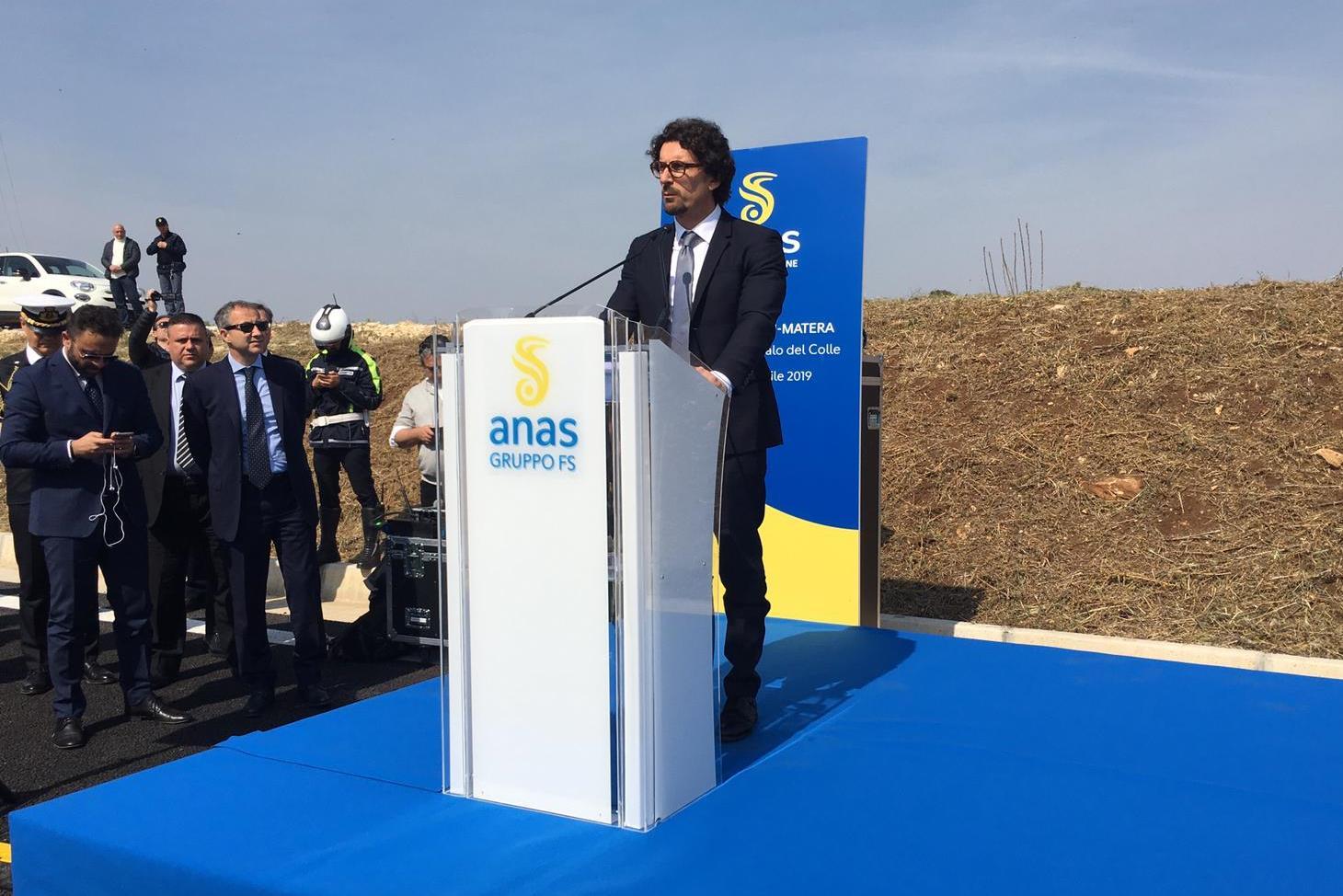 """Apertura strada statale 96 """"Barese"""", intervento Ministro Toninelli"""