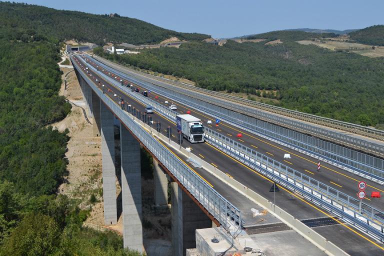 E78 Grosseto-Siena - maxi lotto - nuovo viadotto Farma