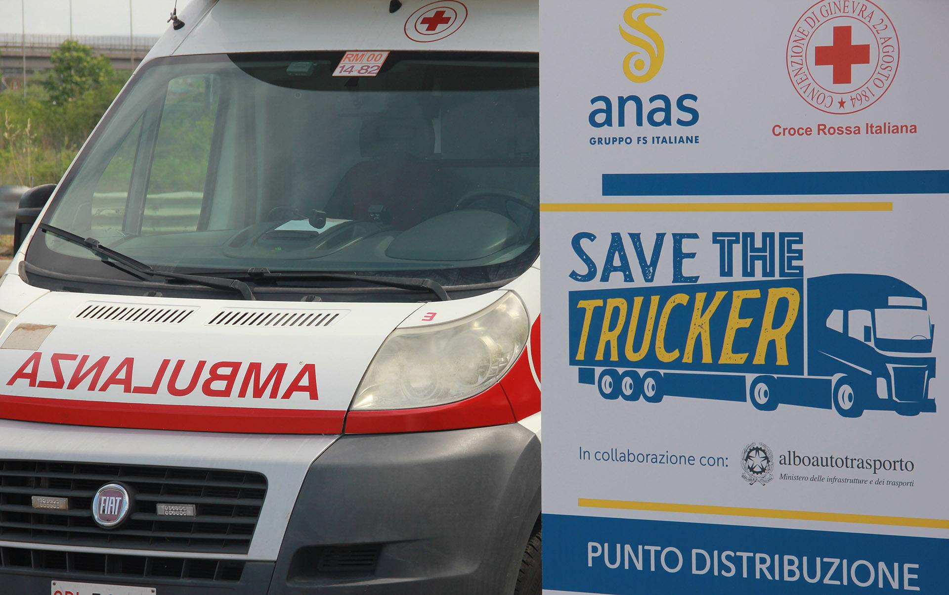 Foto 1: Save The Trucker, Anas e Croce Rossa Italiana insieme per la sicurezza dei viaggiatori