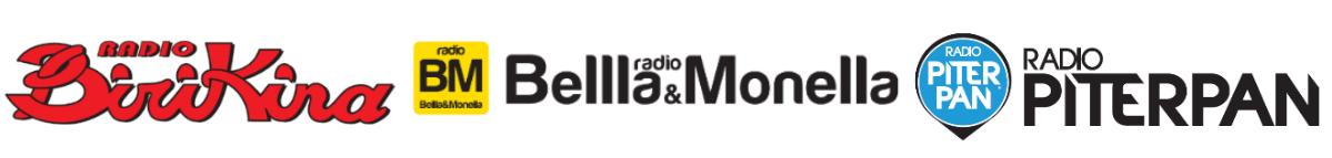 Loghi Radio Birikina, Radio Bella & Monella, Radio Piterpan