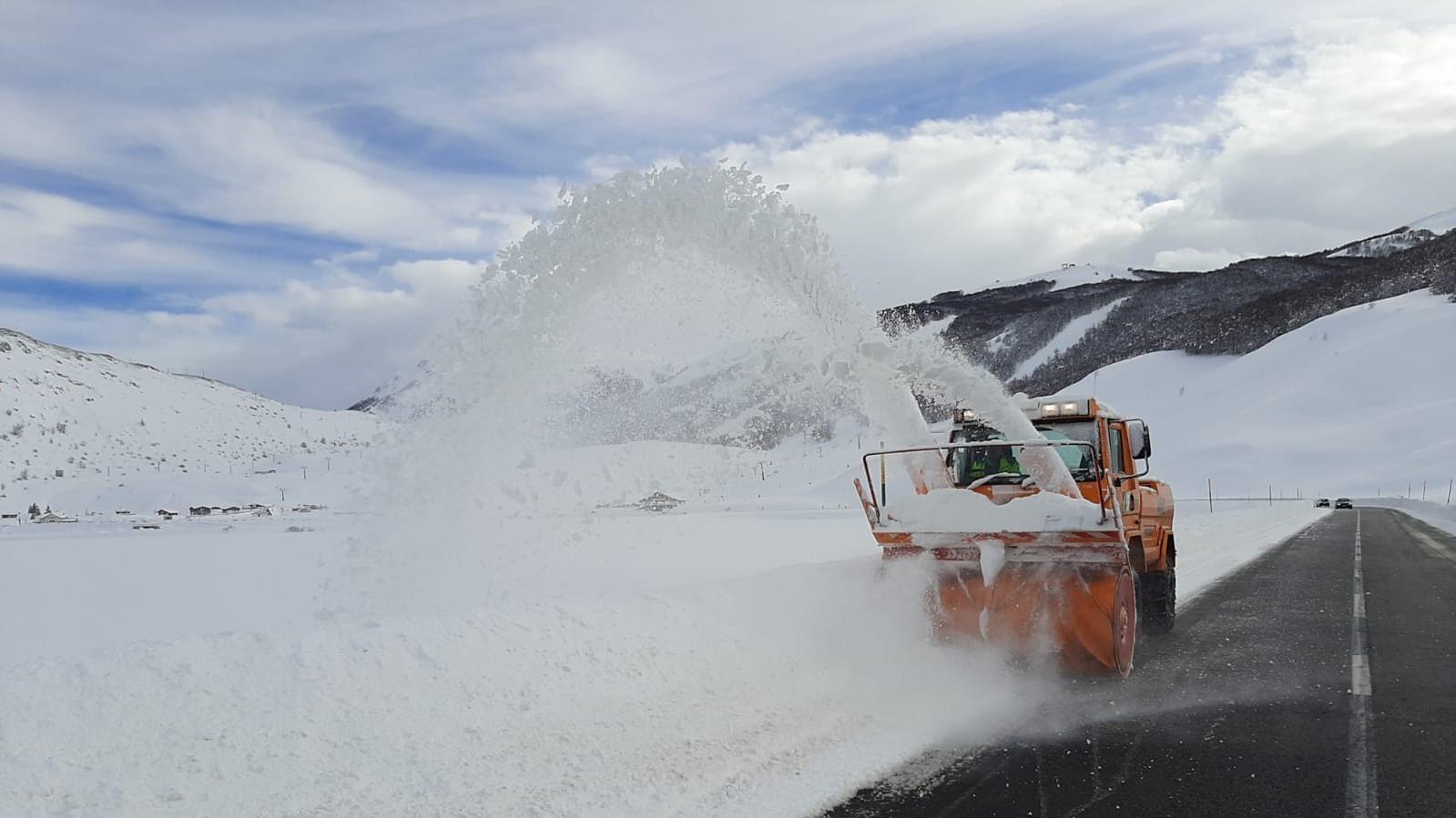 Neve, turbina Anas in azione