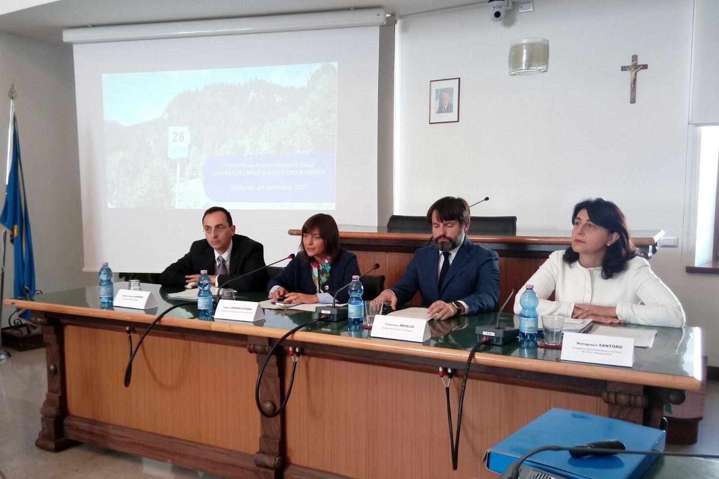 Tolmezzo: Piano SS52 bis e passo di Monte Croce Carnico