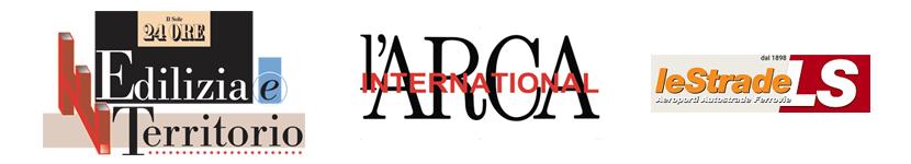 Banner sui partner Reinventa Cavalcavia: Il sole 24ore; l'Arca international; Le strade