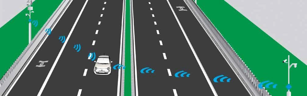 Graphic image of a Smart Road