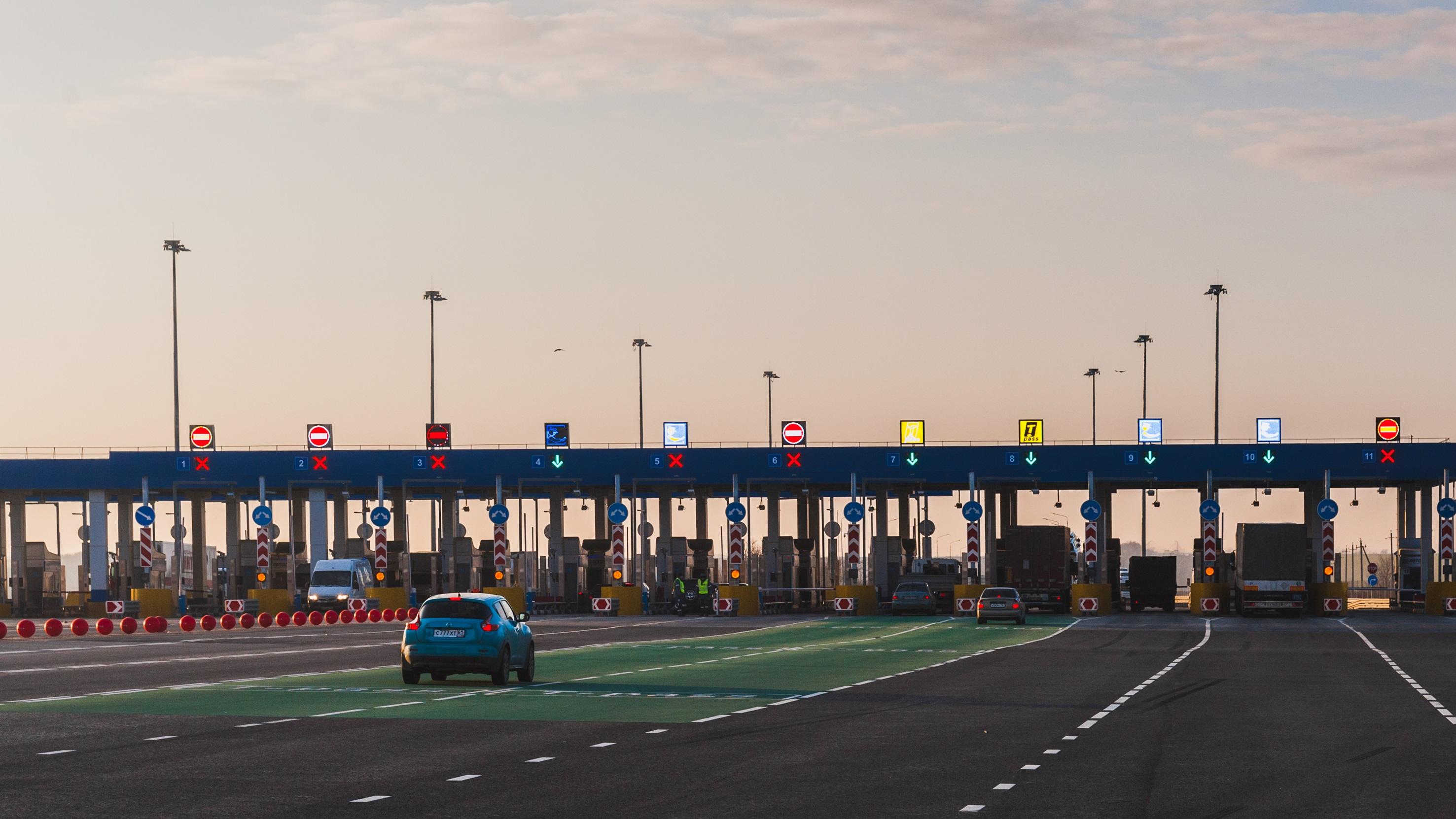 Immagine di un casello autostradale in Russia
