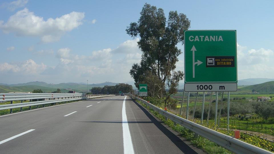 Immagine dell'autostrada A19 Palermo-Catania, in provincia di Enna