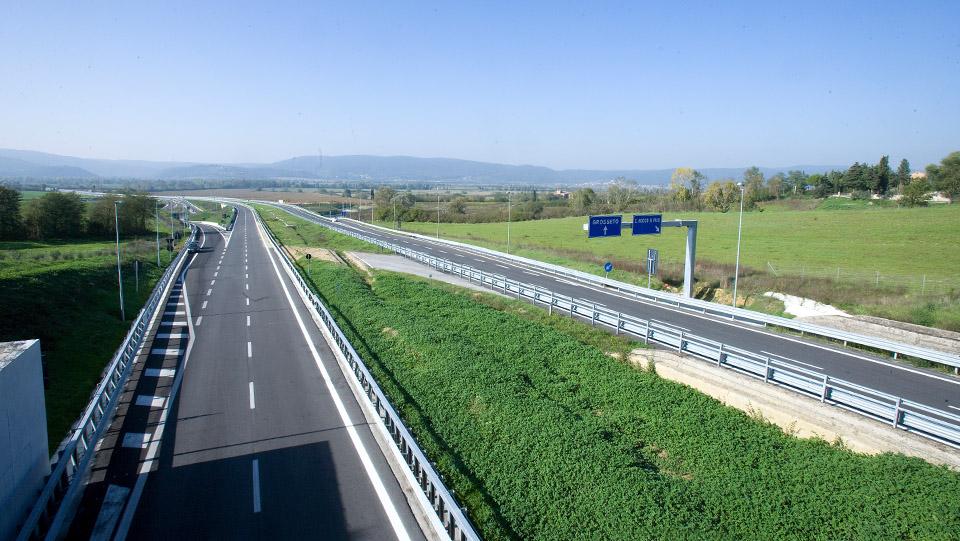 Immagine della E78 Grosseto-Fano, tratto Grosseto-Siena svincolo di S. Rocco a Pilli