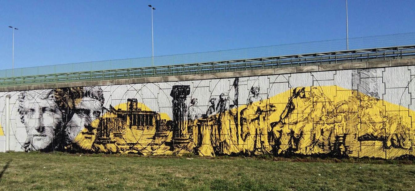 Immagine di un murales sul GRA