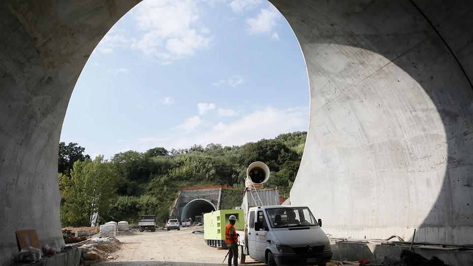 Immagine della variante SS1 Aurelia La Spezia - lavori terzo Lotto tra Felettino e Raccordo Autostradale