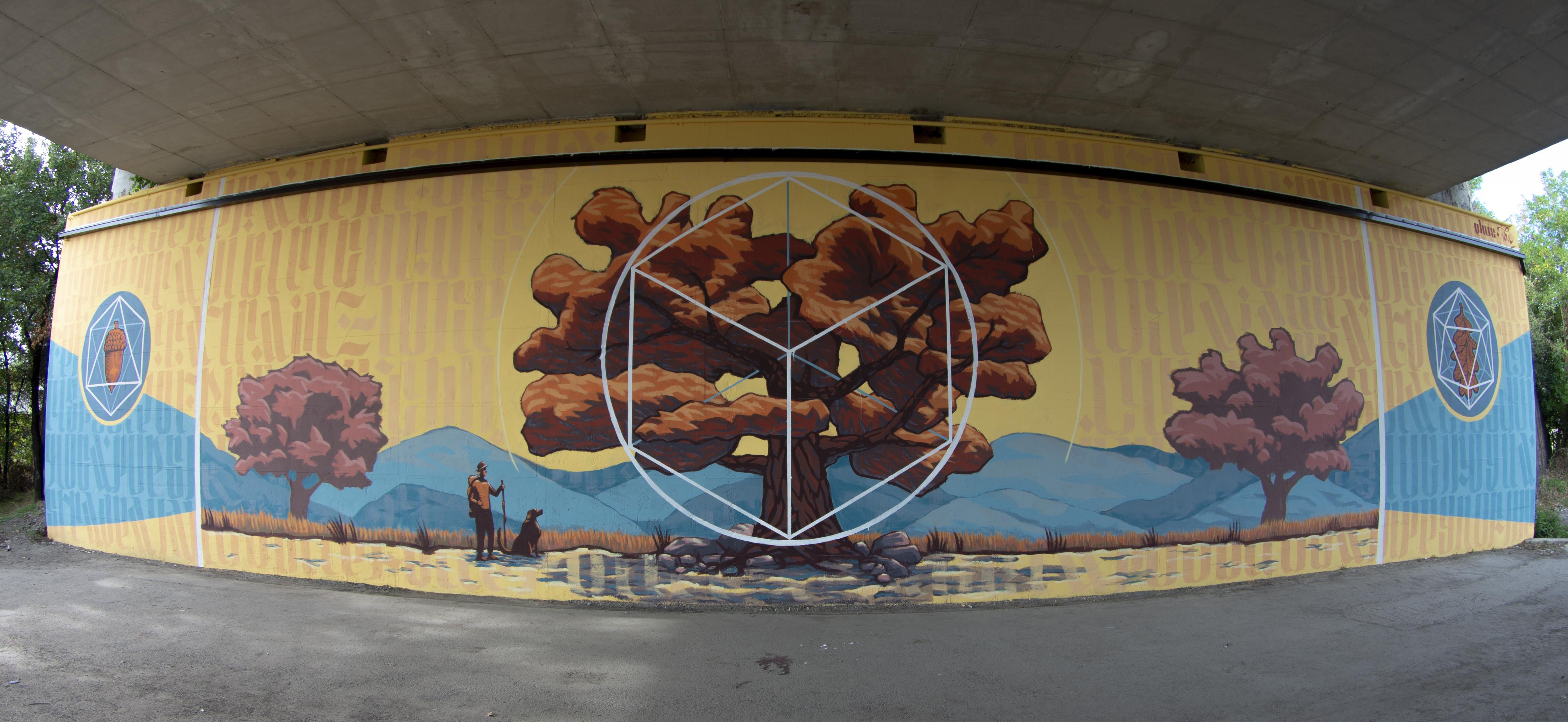Immagine di un murales sulla E45
