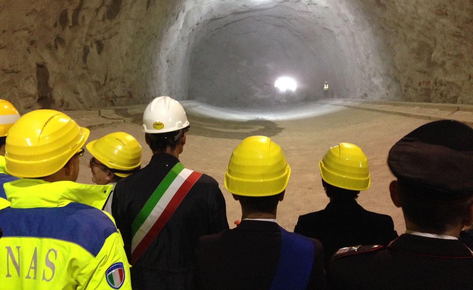 Abbattimento diaframma galleria Montecastello