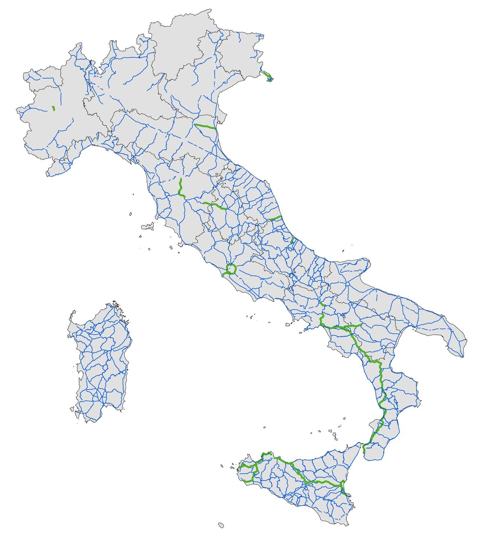 Italia Cartina Autostradale.La Rete Anas Anas S P A