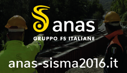 Anas Sisma 2016 and Anas Gruppo FSI Banner brings to external website anas-sisma2016.it