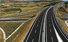 Immagine panoramica di un tratto autostradale Anas