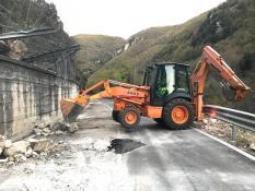 SS685 - interventi Anas caduta massi sisma centro Italia