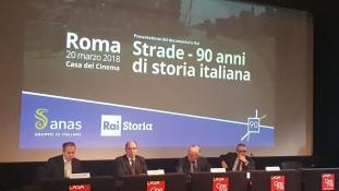 """Presentazione documentario Rai """"Strade – 90 anni di storia italiana""""  (Foto archivio Anas)"""