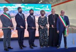 Sicilia, apertura nuovo lotto itinerario Nord-Sud - taglio del nastro