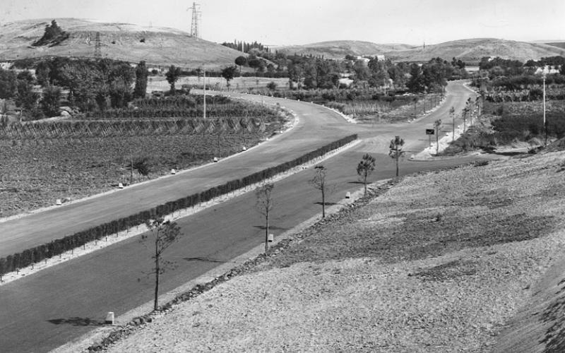 Immagine del Grande Raccordo Anulare di Roma, tratto in corrispondenza dell'innesto con la strada statale 1 Aurelia