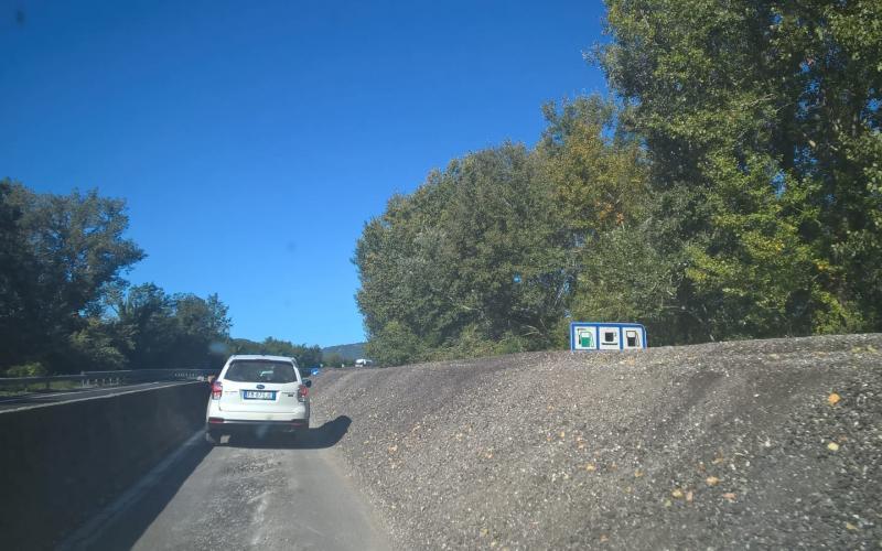 Immagine del tratto Umbro della E45 asfalto-fresato