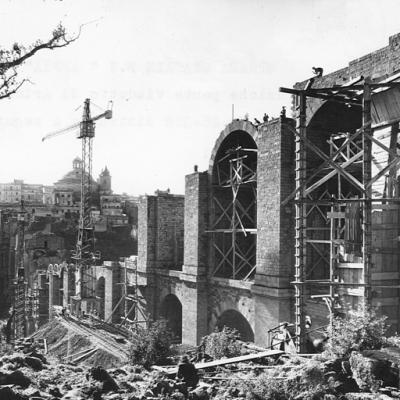 Ricostruzione post bellica, Lazio, strada statale 7 'Via Appia', ricostruzione del ponte di Ariccia dopo la Seconda Guerra Mondiale - 1946-1948