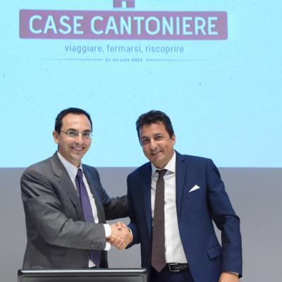 Presentazione bando Case cantoniere, Il Presidente Anas Armani e il Direttore dell'Agenzia del Demanio, Roberto Reggi