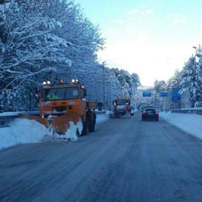 Calabria, mezzi spalaneve Anas allopera sulla strada statale 107 'Silana Crotonese, 17 gennaio 2017