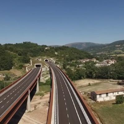 Itinerario Foligno-Civitanova Marche, nuova strada statale 77 - Viadotto Muccia e Galleria Rocchetta