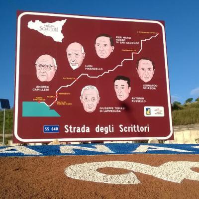 Sicilia SS640 cartello turistico