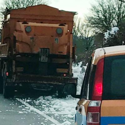 Sardegna - mezzi Anas all'opera sulla strada statale 389 'di Buddusò e del Correboi', 23 gennaio 2017
