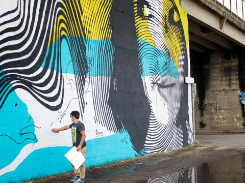 "Foto 4 - Street Art su strada statale 101 ""Salentina di Gallipoli"