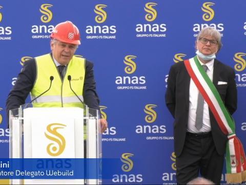 Avvio lavori III Megalotto SS106 - Salini, AD Webuild e Bettarini Sindaco di Francavilla Marittima