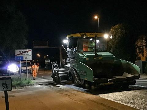 Ripristino della pavimentazione sulla statale Pontebbana (TV)