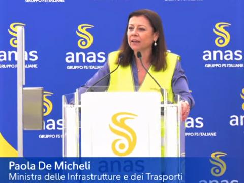 Avvio lavori III Megalotto SS106 - intervento Ministro De Micheli