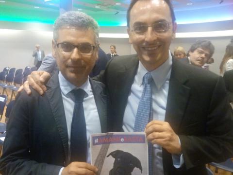Ad Anas Armani con Michele Pezone, Responsabile nazionale diritti animali LNDC