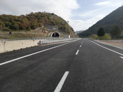 Apertura Quadrilatero, direttrice Perugia-Ancona, tratto Fossato di Vico-Cancelli