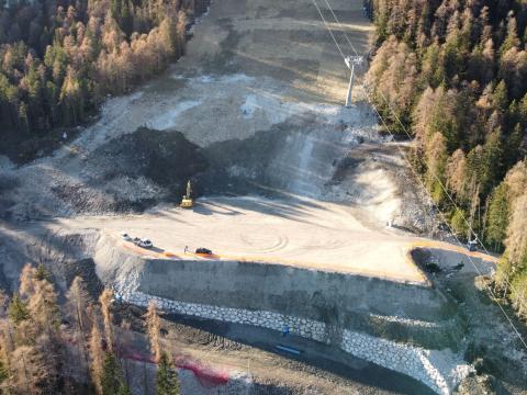 Cortina 2021 Finish area Druscié