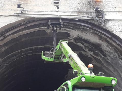 """Foto lavori in corso nella galleria """"Passo del Lupo"""" sulla SS17Var """"Variante di Volturara"""""""