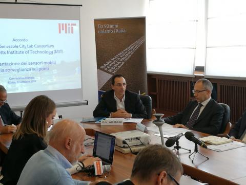 Conferenza stampa sull'accordo Anas e MIT di Boston - 22 ottobre 2018