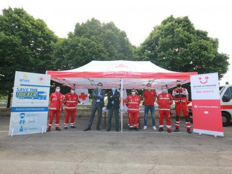 Foto 2: Save The Trucker, Anas e Croce Rossa Italiana insieme per la sicurezza dei viaggiatori