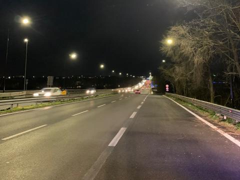 """SS148 """"Pontina"""" nuovo impianto di illuminazione tra i km 10,660 e 12,900"""