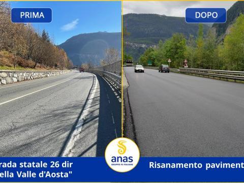 Risanamento pavimentazione. Foto prima e dopo