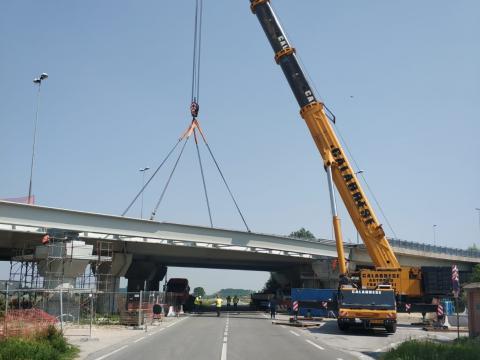 Varo viadotto Tangenziale di Fossano