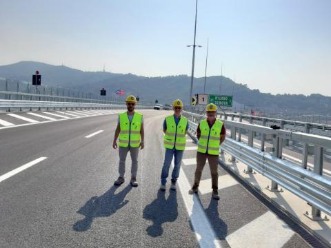 Tecnici Anas - collaudo ponte Genova San Giorgio (1)