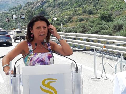 Viadotto Imera - intervento Ministra Paola De Micheli