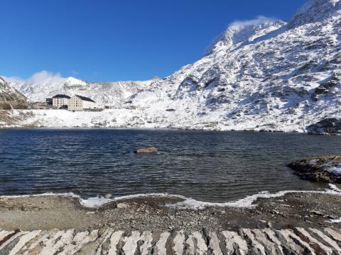 prima neve al Colle del Gran San Bernardo