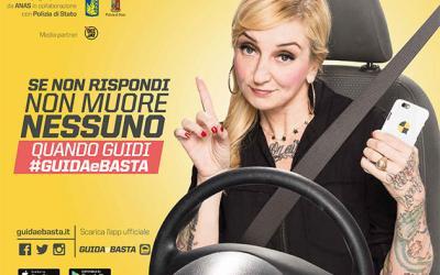 """Immagine sulla campagna """"Guida e basta"""" 2016"""
